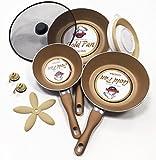 SET DE 3 SARTENES PROFESIONALES GOLD PAN + 5 ACCESORIOS DE REGALO