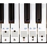 durchsichtige, ablösbare Keysies-Aufkleber für die Klavier- und Keyboardtastatur - mit praktischer Anleitung.
