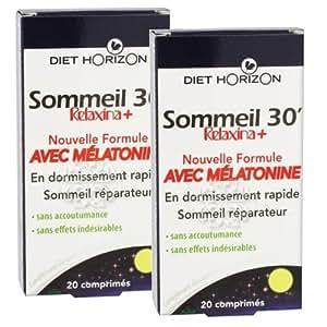 Diet horizon - Sommeil 30 avec mélatonine - 2 x 30 comprimés - Contre l'insomnie