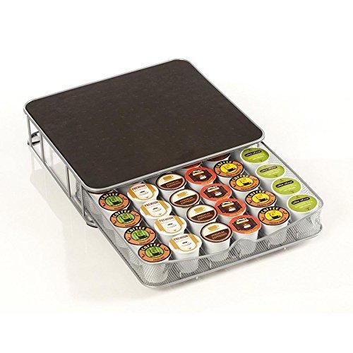Invero® - Cajón de Almacenamiento para cafetera Nescafe Nespresso Dolce Gusto Tassimo - Capacidad para hasta 60 cápsulas y hasta 36 cápsulas