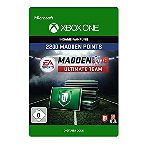 Madden NFL 18: MUT 2200 Madden Points Pack [Xbox One – Download Code]