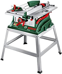 Bosch DIY Tischkreissäge PTS 10 T, Untergestell, Spaltkeil, Tischverlängerung, Winkelanschlag, Absaugschlauch, Karton (1400 W, Kreissägeblatt Nenn-Ø  254 mm, Schnitttiefe bei 90° 75 mm)