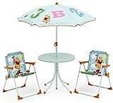 Disney Winnie Pooh Tisch 2 Stühle Schirm Kindertisch Gartenmöbel Puuh Bär 89510