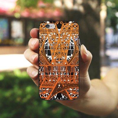 Apple iPhone X Silikon Hülle Case Schutzhülle Paris Eiffelturm Muster Silikon Case schwarz / weiß