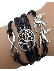 Malloom® más popular hecho a mano ajustable encantos árbol paloma multicapa pulsera joyería de la muñeca