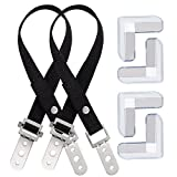 Anpro Anti-Tip TV and Furniture Straps (2 Pack), High Quality Heavy Duty Strap with All Metal Parts , Flat Screen TV/Furniture Mounting Hardware Included -Black