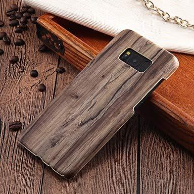 Mobile phone case Proteggi Il Cellulare, Custodia per Samsung Galaxy Cover Posteriore Ultrasottile in Legno con Grano Duro PC (Colore : Marrone, Modello Compatibile : Galaxy S7 Edge)