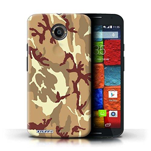 Kobalt® Imprimé Etui / Coque pour Motorola Moto X (2014) / Blanc 3 conception / Série Armée/Camouflage Marron 4
