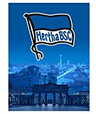 Hertha BSC Coralfleece Decke Dämmerung, 150 x 200cm