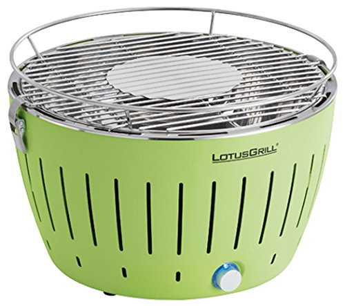 LotusGrill Holzkohlengrill Serie 340, Farbe Limone, 35 x 35 x 24 cm