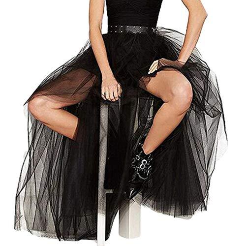 Mxssi Swallowtail Negro Vintage Steampunk Faldas Mujeres Largo...