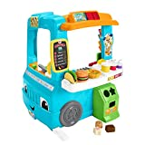 Fisher-Price Laugh and Learn Servin Up Fun Food Truck, Interactive Learning Toddler Role Play Toy, Speaking Toy, Gift for 18 Months Plus