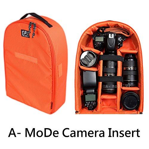 Kamera Einsatz Wasserdicht Stoßfest Partition Gepolsterte Tasche Tasche Rucksack für Nikon Canon DSLR SLR Lens Schutz Case IN02X (Camera Bag Insert Für Rucksack)