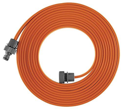 Arroseur souple GARDENA : arroseur à pulvérisation pour massifs et surfaces étroits, adapté à de nombreux raccords GARDENA, réglage individuel de la longueur, 7.5 m, orange (995-20)