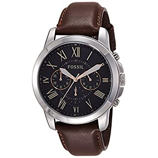 Fossil Grant Chronograph Black Dial Men's Watch – FS4813I