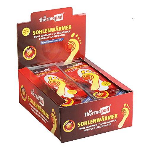 30 Paar THERMOPAD Sohlenwärmer S (Gr. 36-40) SELBSTKLEBEND - bis zu 8 Stunden Wärmedauer - EXTRA WARM - Wärmesohle / Schuhheizung / Wärmepad / Größe S (Gr. 36-40)