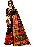 #8: Glory Sarees Women's Bhagalpuri Art Silk Saree(gloryart13_red_black)