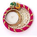 Slings Handcrafted Designer Metallic Diwali Diya Lights Tea Lights Candle Holder Home Decoration (Set Of2) - B075TGSHB1