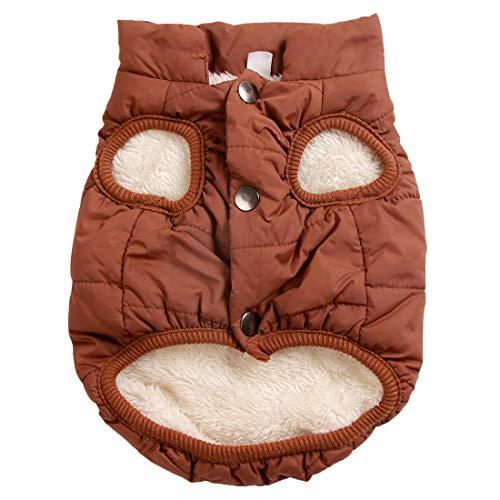Kostüm Extra Kleine - JoyDaog 2-lagige Hundejacke mit Fleece-Futter, besonders warm, für kalte Winter, extra weich, Winddicht, Hundemantel