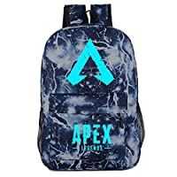 Ailyoo Apex Legends Backpack 3D Cartoon Game Kids Luminous Bag Male and Female Teenager Shoulder Bag for Hiking/Traveling/Camping Blue