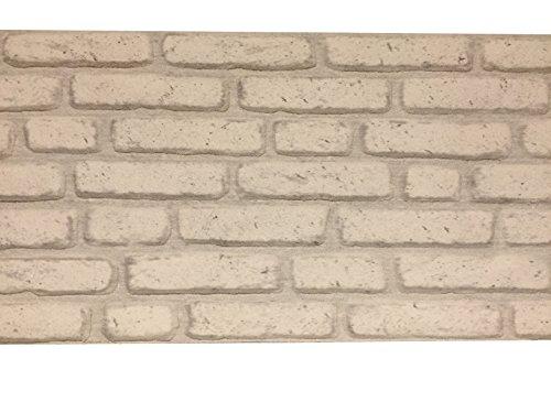 Rivestimento parete in polistirolo per cucina • camere da letto • balconi • salotto | Pannelli decorativi effetto pietra | Arredamento moderno | 120cm x 50cm x 2cm Bianco
