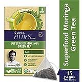 Saffola FITTIFY Gourmet Superfood Moringa Green Tea - 37.5 g (Classic, 15 Sachets)