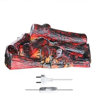 kaminfeuer mit flackerlicht leuchtend beleuchtung. Black Bedroom Furniture Sets. Home Design Ideas