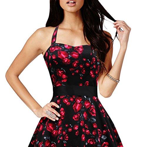 Black Butterfly 'Rhya' Vintage Harmony Kleid im 50er-Jahre-Stil Rote Rosen