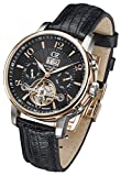 Carl von Zeyten Herren Analog Automatik Uhr mit Leder socken CVZ0029RBK