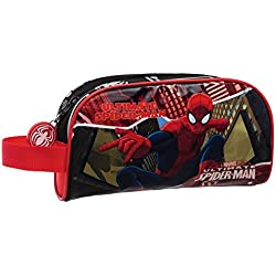 Spiderman-4454151 Disney Portatodo Neceser, Color Rojo, 21 cm (Joumma 44541)