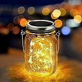 Luce Solare Esterno Lampade Solare Esterno LED Luci Solari con Barattolo di Vetro Giardino Illuminazione per Giardino Terrazza Balcone Patio