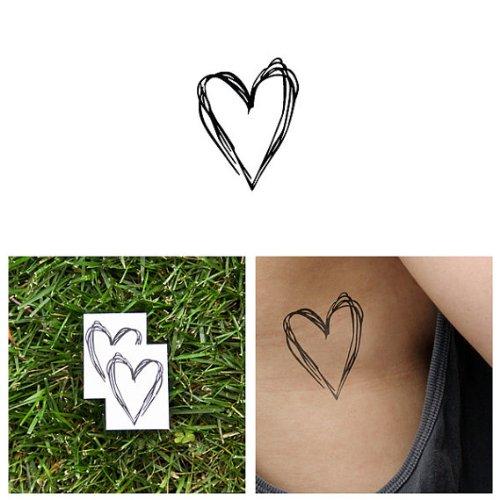tattify-tatouages-temporaires-coeur-croquis-coeur-en-pagaille-set-de-2