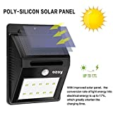 #4: Scross Bright Waterproof Solar Wireless Security Motion Sensor LED Night Light for Outdoor/Garden Wall (Black) - Set of 20