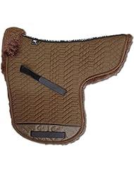 ENGEL GERMANY Sudadero para caballo numnah piel de cordero poney - tela de algodón marrón piel marrón (Sadek 3 poney) Grösse L