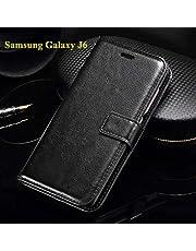Thinkzy SA59-LE1 Flip Cover Case for Samsung Galaxy J6 (Black)