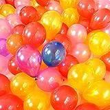 WinCret 100 Stück verschiedene Farben Party-Ballone für Geburtstag, Hochzeit, Jubiläum - 2,2 g Dickere Latexballons