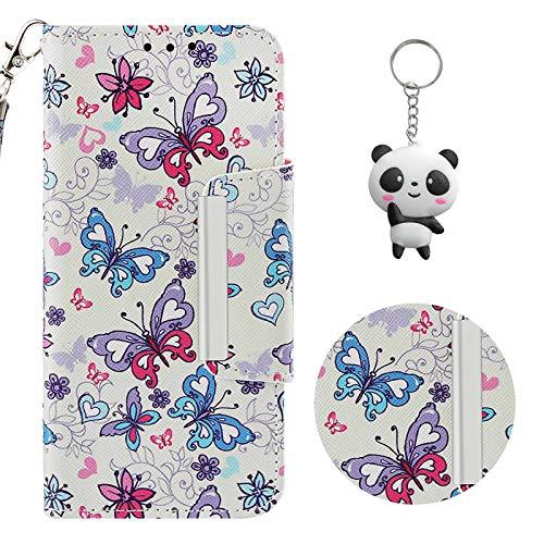 crisant Huawei Mate 10 Lite Hülle Kleiner Schmetterling PU Leder Magnetverschluss Ständer Flip Schutzhülle Handyhülle Für Huawei Mate 10 Lite (5,9 Zoll) Mit Einem Geschenk