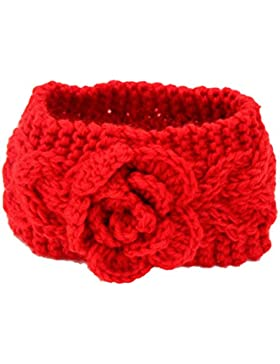 Zhhlaixing Beautiful Baby Girl Knitting Flower Headband Winter Infant Warm Hair Band