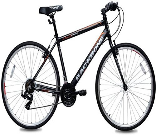 LA Sovereign Back Bone 700C 18 Speed 700C0HYB02 Hybrid Cycle (Black)