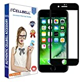 CELLBELL®Apple iPhone 7 Plus(FULL GLUE)(EDGE TO EDGE)(BLACK) Tempered Glass Screen Protector With FREE Installation Kit