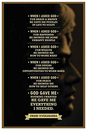 Poster Swami Vivekanand Quote Paper Print Print Poster on 13x19 Inches  available at amazon for Rs.200