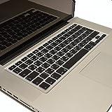 LIOShop Silikon Schutzabdeckung für MacBook, Air-& Pro Tastatur, Russisch-Englisch, EU-Enter, QWERTY * Schwarz