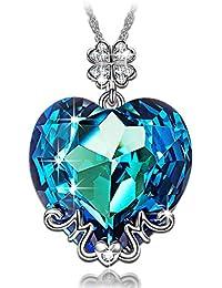 LADY COLOUR - Mama te amo - Collar mujer con cristales de Swarovski - la coleccion Corazon de Cristal