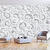 murando - Fototapete 3D Effekt 400x280 cm - Vlies Tapete - Moderne Wanddeko - Design Tapete - Wandtapete - Wand Dekoration - Ornament weiß grau f-C-0218-a-a