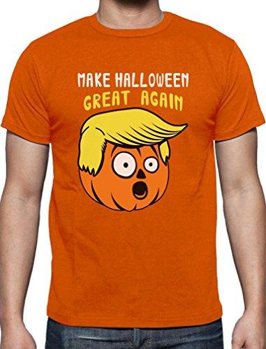 Witziges Geschenk Halloween Great Again T-Shirt Large Orange (Geil O Halloween Kostüm)
