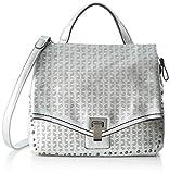 Tamaris Damen Pamela Small Satchel Bag Schultertasche, Silber (Silver), 15x28x30.5 cm
