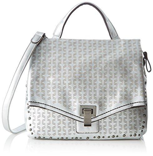 Tamaris Damen Pamela Small Satchel Bag Schultertasche, Silber (Silver), 15 x 28 x 30.5 cm (Front Flap Clutch)