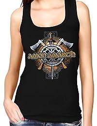 LaMAGLIERIA Camiseta de Tirantes Hombre Amon Amarth Viking Skull - 100% Algodòn JDjaf4F8