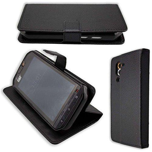 caseroxx Hülle/Tasche Bookstyle-Case CAT S60 Handy-Tasche, Wallet-Case Klapptasche in schwarz
