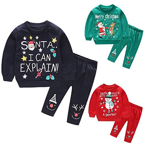 Vêtements Noël Bébé 2Pcs T-Shirt en Cerf Impression de Lettre + Pantalons Tenues Vêtements Ensembles de Bébé Meilleure Vente de Costumes de Noël 2018 Nouveau